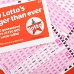 Lotto Play Slips — Stock Photo