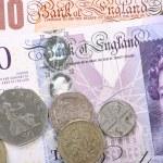 British Banknotes and Coins — Stock Photo #38927265