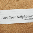 Stock Photo: Love Your Neighbour