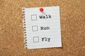 Walk, Run or Fly? — Stock Photo