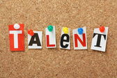 The word Talent — Stock Photo