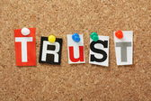The word Trust — Stock Photo