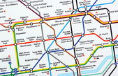 London Underground Map — Stock Photo