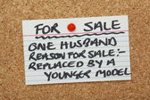 Husband For Sale — Stock Photo