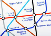 London Underground Map Detail — Stock Photo