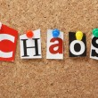 The word Chaos — Stock Photo