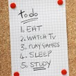 Stock Photo: To Do List for Students