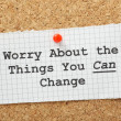 Stock Photo: Worry About Things You CChange