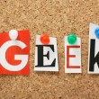 Stock Photo: Word Geek