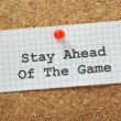 Stay Ahead of the Game — Stock Photo