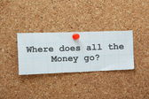 Where Does All the Money Go? — Stock Photo