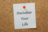Declutter Your Life — Stock Photo