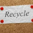 The word Recycle — Stock Photo