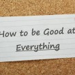 Good At Everything — Zdjęcie stockowe