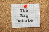 The Big Debate — Stock Photo