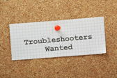 Troubleshooters Wanted — Stock Photo