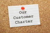 Our Customer Charter — Stock Photo