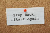 Step Back Start Again — Stock Photo