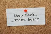 Step Back Start Again — Stock Photo