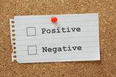 Positivo ou negativo — Fotografia Stock