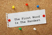 The First Word — Stock Photo