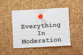 Everything in Moderation — Stock Photo