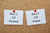 Shame or Fame? — Stock Photo