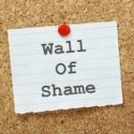 Постер, плакат: Wall of Shame