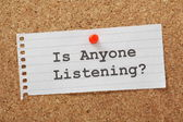 Is Anyone Listening? — Stock Photo