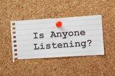 Is Anyone Listening? — Stock Photo
