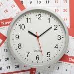 Uhr und Kalender — Stockfoto