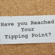 Tipping Point Concept — Foto Stock #46600383