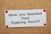 Tipping Point Concept — Stock Photo