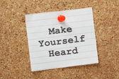 Make Yourself Heard — Stock Photo