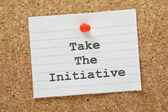Take The Initiative — Stock Photo