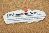 Environment News — Stock Photo