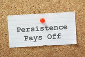 Persistence Pays Off — Stock Photo