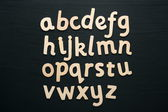 Wooden Alphabet Letters — Stock Photo