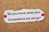 Know Your Competition — Stock Photo