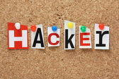 The word Hacker — Stock Photo