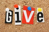 The word Give — Stock Photo