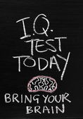 IQ Test Today — Stock Photo