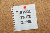 Spam Free Zone — Stock Photo
