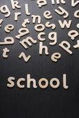 School Wooden Letters — Stock Photo