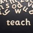 The word Teach — Stock Photo #49198251