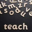 The word Teach — Stock Photo #49322953