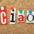 The word Ciao — Stock Photo #49750761