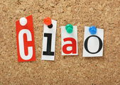 The word Ciao — Stock Photo
