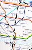 London Underground Map — Stock Photo