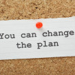 Change The Plan — Stock Photo